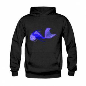 Bluza z kapturem dziecięca Lilac fish