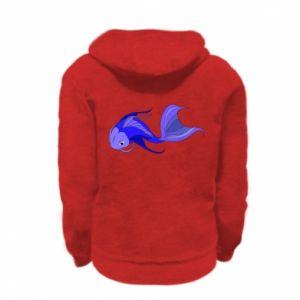 Bluza na zamek dziecięca Lilac fish