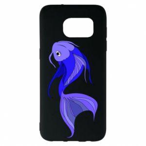 Etui na Samsung S7 EDGE Lilac fish