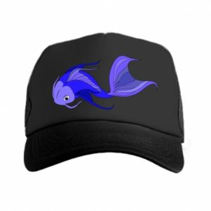 Czapka trucker Lilac fish