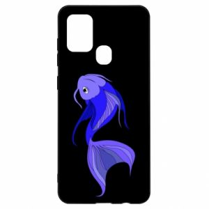 Etui na Samsung A21s Lilac fish