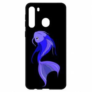 Etui na Samsung A21 Lilac fish