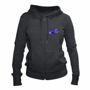 Women's zip up hoodies Lilac fish