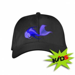 Czapeczka z daszkiem dziecięca Lilac fish