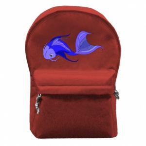 Plecak z przednią kieszenią Lilac fish
