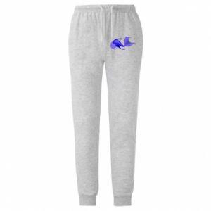 Spodnie lekkie męskie Lilac fish