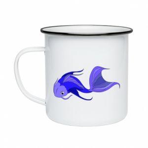 Kubek emaliowany Lilac fish