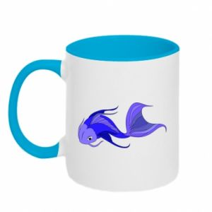Two-toned mug Lilac fish