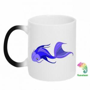 Chameleon mugs Lilac fish