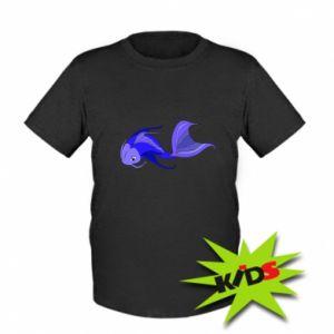 Kids T-shirt Lilac fish