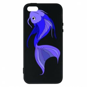 Etui na iPhone 5/5S/SE Lilac fish - PrintSalon
