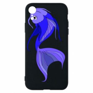 Etui na iPhone XR Lilac fish - PrintSalon