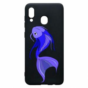 Etui na Samsung A20 Lilac fish