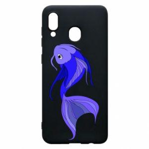 Etui na Samsung A30 Lilac fish