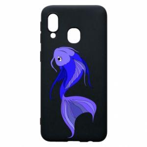 Etui na Samsung A40 Lilac fish