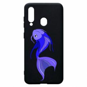 Etui na Samsung A60 Lilac fish