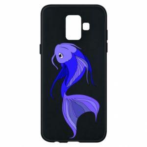 Etui na Samsung A6 2018 Lilac fish