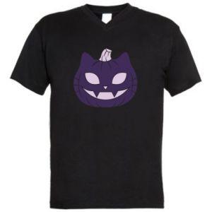 Męska koszulka V-neck Lilac pumpkin