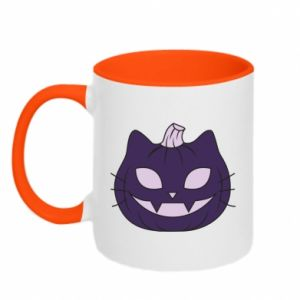 Two-toned mug Lilac pumpkin