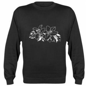 Sweatshirt Lilies black and white
