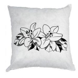 Poduszka Lilie czarno-białe