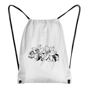 Backpack-bag Lilies black and white