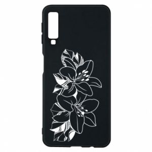 Samsung A7 2018 Case Lilies black and white