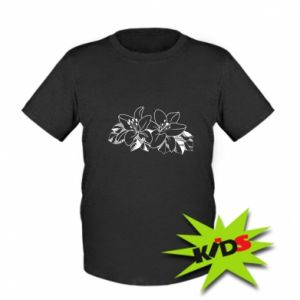 Kids T-shirt Lilies black and white