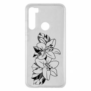 Xiaomi Redmi Note 8 Case Lilies black and white