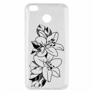Xiaomi Redmi 4X Case Lilies black and white