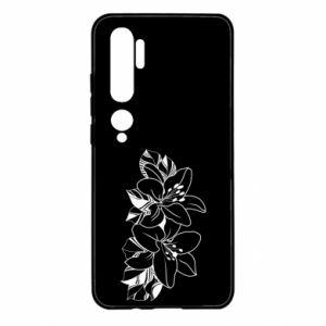 Xiaomi Mi Note 10 Case Lilies black and white