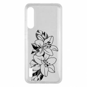 Xiaomi Mi A3 Case Lilies black and white