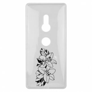Sony Xperia XZ2 Case Lilies black and white