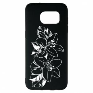 Samsung S7 EDGE Case Lilies black and white