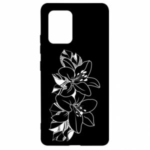 Samsung S10 Lite Case Lilies black and white