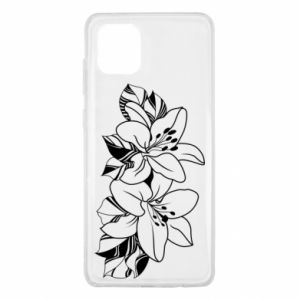 Samsung Note 10 Lite Case Lilies black and white