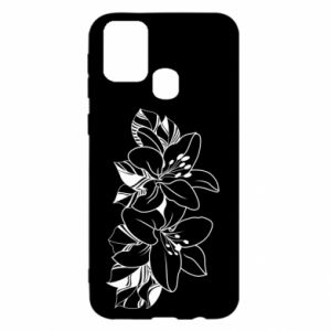 Samsung M31 Case Lilies black and white