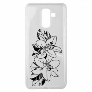 Samsung J8 2018 Case Lilies black and white