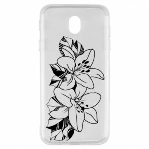 Samsung J7 2017 Case Lilies black and white