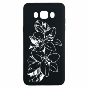 Samsung J7 2016 Case Lilies black and white