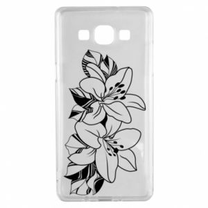 Samsung A5 2015 Case Lilies black and white