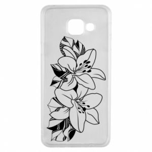 Samsung A3 2016 Case Lilies black and white