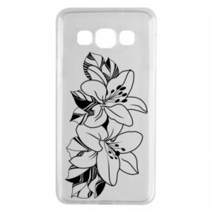 Samsung A3 2015 Case Lilies black and white