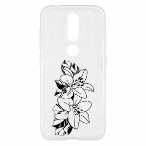 Nokia 4.2 Case Lilies black and white