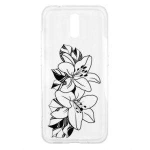 Nokia 2.3 Case Lilies black and white