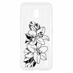 Nokia 2.2 Case Lilies black and white