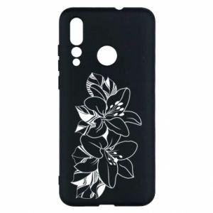 Huawei Nova 4 Case Lilies black and white
