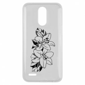 Lg K10 2017 Case Lilies black and white