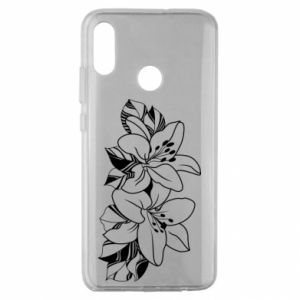 Huawei Honor 10 Lite Case Lilies black and white