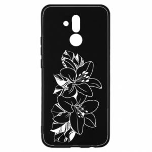 Huawei Mate 20Lite Case Lilies black and white